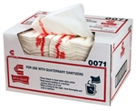 Sanitizer Pro Quat Medium Heavy Duty White Towel - 13 in. x 21 in.