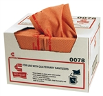 Pro-Quattm Heavy Duty Foodservice Towel Red with Red Print - 12.5 in. x 17 in.