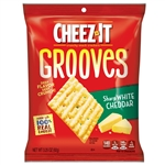 Cheez-It Grooves Sharp White Cheddar Crackers - 3.25 oz.