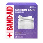 Johnson and Johnson First Aid Gauze Pads 25 Count - 4 in. x 4 in.