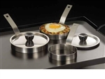 Standard Stainless Egg Rings with Handle - 4 in.x 1 in.