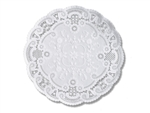 Round French Lace Paper White Doilies - 10 in.