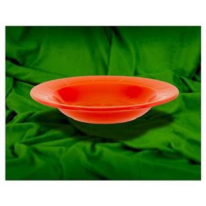9 in. Rim Soup Bowl Six Colors Equally Mixed : Sage, Orange, Red, Yellow, Light Blue, Dark Blue - 12 Oz.