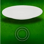 White Bright Plate - 9 in.