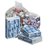 Vu-Thru Clear Perforated Roll 33 Gallon Can Liner - 33 in. x 39 in.
