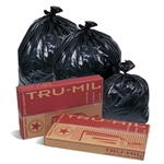 Tru-Mil Black Perforated Roll Can Liner - 40 in. x 46 in.