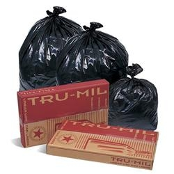 Tru-Mil Black Perforated Roll Can Liner - 42.5 in. x 48 in.