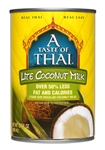 A Taste of Thai Lite Coconut Milk - 13.5 fl.oz.