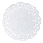 Round French Lace Doily Paper White - 5 in.