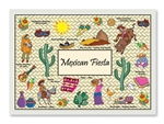 Mexican Fiesta Paper Placemat - 10 in. x 14 in.