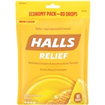 Halls Honey Lemon Cough Drops