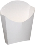 Dixie Medium White Glued French Fry Carton - 3.75 in. x 2.125 in. x 4.375 in.