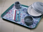 Paper Whispering Floral Traymats - 13.625 in. x 18.75 in.