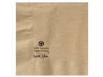 Beverage Kraft 2 Ply 100 Percentage Recycled Earth Wise Napkin - 10 in. x 10 in.