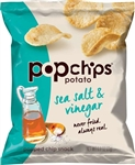 Popchips Sea Salt and Vinegar Potato Chip - 0.8 Oz.