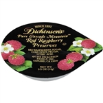 Dickinson Red Raspberry Preserves Plastic Portion Control - 0.5 Oz.