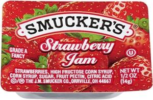Strawberry Jam Plastic - 0.5 oz.