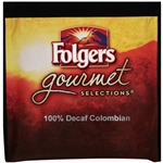 Folgers Gourmet Selection Decaffinated 100 Percentage Colombian Pods - 10 g.