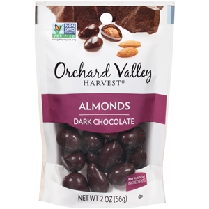 Orchard Valley Almonds Dark Chocolate - 2 Oz.