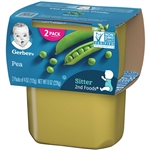 Gerber 2nd Foods Baby Food Peas - 8 Oz.