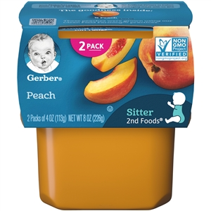 Gerber 2nd Foods Baby Food Peach - 8 Oz.