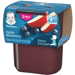 Gerber 2nd Foods Baby Food Apple Blueberry - 8 Oz.
