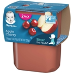 Gerber 2nd Foods Baby Food Apple Cherry - 8 Oz.