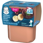 Gerber 2nd Foods Baby Food Banana Plum Grape - 8 Oz.