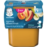 Gerber 2nd Foods Baby Food Apricot Mxd Fruit - 8 Oz.