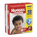 Huggies Baby Diaper Snug and Dry Tab Closure Size 3