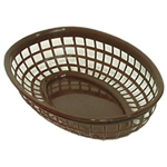 Oval Fast Food Basket Brown - 9.5 in. x 6 in.