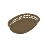 Oval Fast Food Basket Brown - 10.5 in. x 7 in.