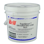 Decorating Icing Red Transmart Pail