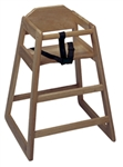 High Chair Walnut Wood Finish