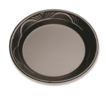 Plastic Black Microwavable Plate - 10.25 In.