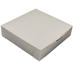 1 Piece Lock Corner White Bakery Box - 10 in. x 10 in. x 2.5 in.