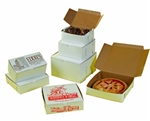 1 PC Lock Corner White Bakery Box - 8 in. X 4 in. X 4 in.
