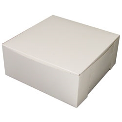 1 PC Lock Corner White Bakery Box - 12 in. X 12 in. X 6 in.
