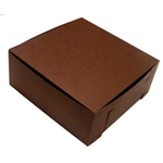 1 Piece Lock Corner Brown Bakery Box - 10 in. x 10 in. x 4 in.
