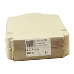 1 Piece Lock Corner White Bakery Box - 4 in. X 4 in. X 4 in.