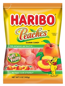 Haribo Peaches Gummi Candy - 5 Oz.