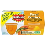 Delmonte Plastic Fruit Cup Diced Peaches In Light Syrup - 4 Oz.