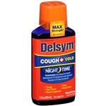 Delsym Cough and Cold Night Time Liquid Mixed Berry - 6 Fl. Oz.
