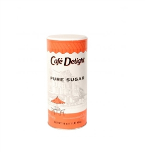 Cafe Delight Pure Sugar Canister - 16 Oz.