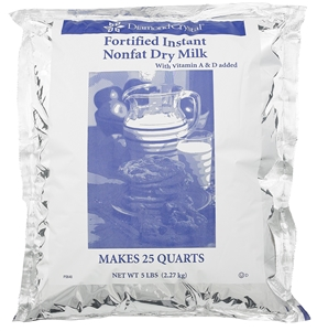Chefs Companion Nonfat Dry Milk Instant Fortified Low Heat - 5 Lb.