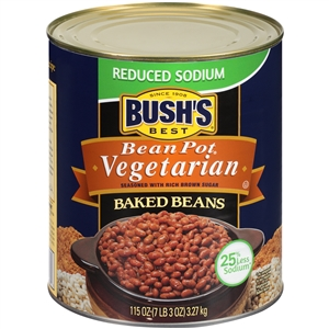 Bushs Reduced Sodium Vegetarian Baked Beans - 115 Oz.