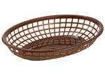 Oval Fast Food Basket Brown - 9.5 in. x 5 in. x 2 in.