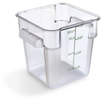 Clear Square Container - 4 Qt.