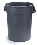 Bronco Round Waste Container Gray - 55 Gal.