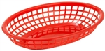 Oval Fast Food Basket Red - 9.5 in. x 5 in. x 2 in.